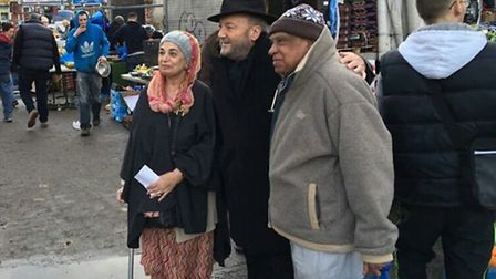 George Galloway surprised shoppers at Willesden Market