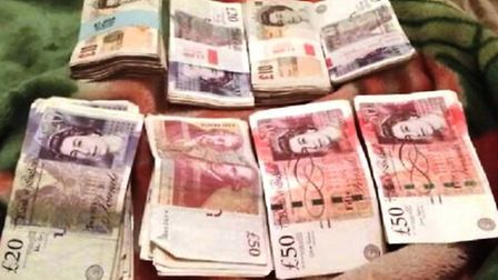 A photo of cash taken from the mobile phone of Makzhumi Abukar