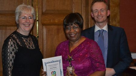 Brent� Director of children�'s services Gail Tolley with award-winning foster carer Patrice Thomas,