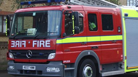 Four fire engines and 21 firefighters and officers were called to the scene to deal with the blaze i