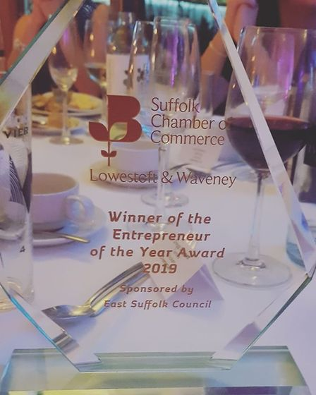 The 'Entrepreneur of the Year' award. Picture: Magnus PR