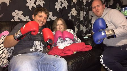 David Lindsay with Charlie and her dad, Andy