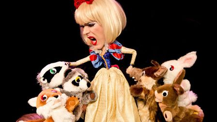 Clementine the Living Fashion Doll in Clementine's Seasonal Spectacular at Rosemary Branch Theatre.
