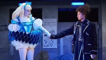 Carly Bawden as Alice and Lois Chimimba as Aly in wonder.land. Picture: Brinkhoff Mogenburg