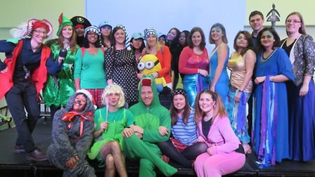 Staff at Chalkhill Primary School put on a panto for their pupils (Pic: Matin Francis)