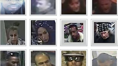 Top 12 most wanted suspects in Brent