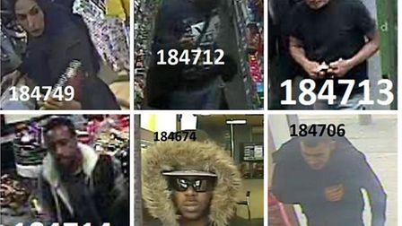 If you can identify anyone win the gallery call Brent Police on 101 or Crimestoppers anonymously on