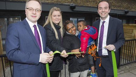At this morning's unveiling of the new Parkhurst Road flats in Holloway: Cllr Richard Watts, leader