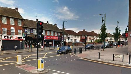 The car crashed on Mount Pleasant at the junction of Ealing Road (pic: Google)