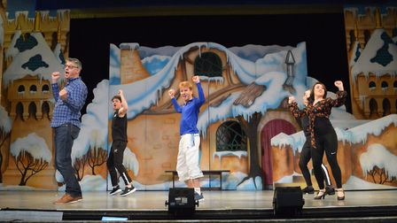 The cast of Snow White and The Seven Dwarfs in rehearsal. Pictures: Marina Theatre
