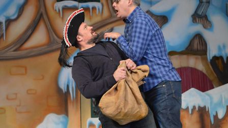 James Franklin and James Dinsmore in rehearsal for Snow White and The Seven Dwarfs. Pictures: Marina