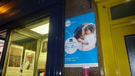 Lebara has apologised for flyposting in Cricklewood (pic: Brent Council)