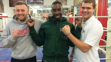 Islington Boxing Club level 1 coaches (left to right) Barry Healey, Marconi Griffin and Ben Turner