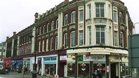 Tiffins nightclub above the shops in Station Square, Lowestoft.