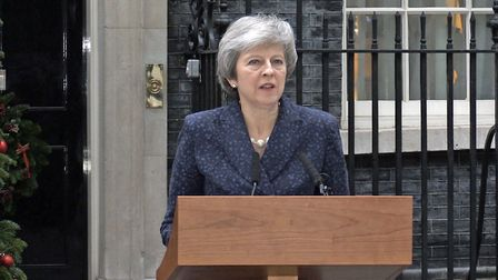 Prime minister Theresa May spoke outside Downing Street to confirm she would fight on as Tory leader