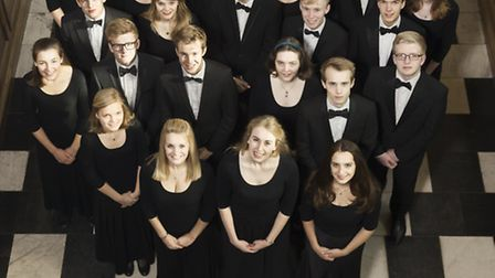 The choir of Clare College Cambridge. Picture: Nick Rutter