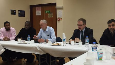Islington North MP and Labour leader Jeremy Corbyn visited Finsbury Park Mosque on Sunday to meet it