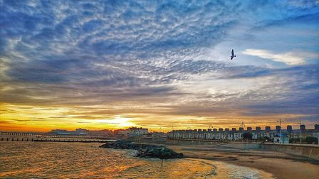 This stunning photograph of the seafront taken from the edge of the South Pier has been crowned as t