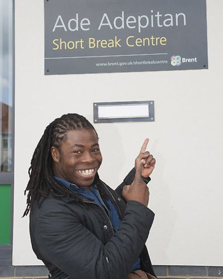 Ade Adepitan at the opening of the centre