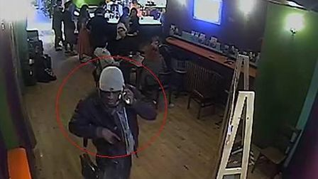 Police want to speak to this man in connection with a bag theft from the Tricycle Theatre on Decemb