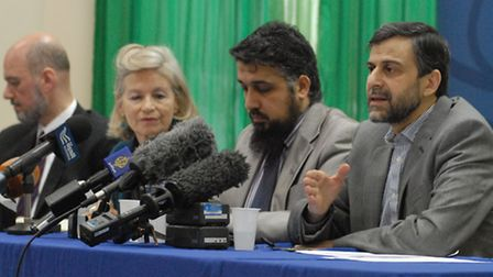 Finsbury Park Mosque chairman Mohammed Kozbar addresses the media at today's conference