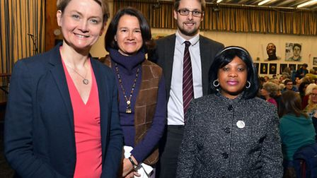 Yvette Cooper MP, Catherine West MP, Jonathan Featonby and asylum seeker Elsie� spoke at the Fortis