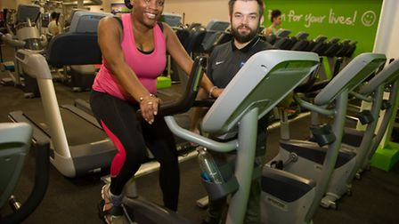 Lorraine King with her personal trainer Adam Ferenc (pic: Jonathan Goldberg)