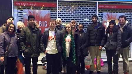 Cllr Sam Stopp and with volunteers from the Labour Campaign to End Homelessness who spent New Years