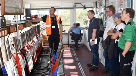 Inside Lowestoft Signal Box, during the Heritage Open Days Festival in the town. Pictures: Mick Howe