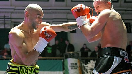 Michael Peart in action against Kristian Laight in November. Pic: Philip Sharkey/TGS Photo