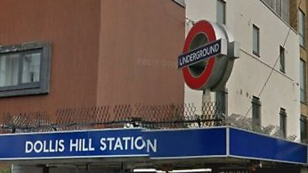 A 48-year-old woman died after being struck by a train at Dollis Hill station on Friday evening (Pic