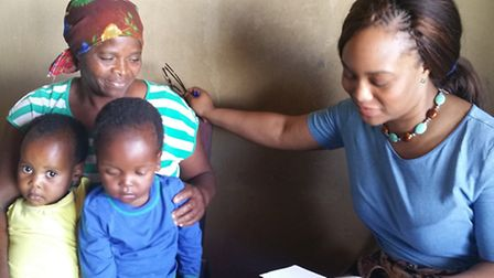 Abena Akom, a nurse specialising in sexual health, was in Swaziland to help poverty striken families