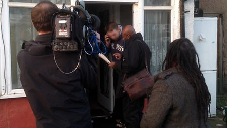 Cllr Margaret McLennan and Brandon Lewis MP joined enforcement teams on an early morning raid to tac