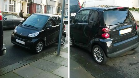 The car was captured parked in Harlesden Gardens (pic: Facebook)