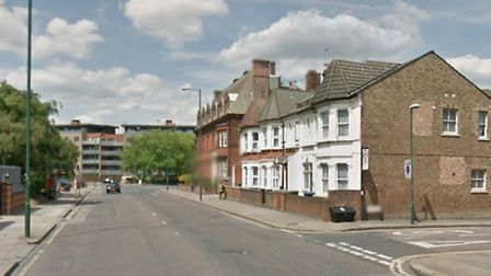The woman was injured on Craven Park at the junction of Inman Road (pic: Google)