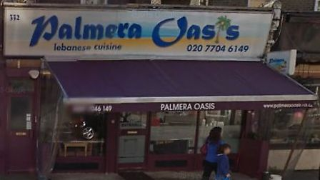 Palmera Oasis, in Essex Road, Canonbury, pictured in April 2015. Picture: Google Street View