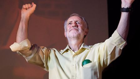Jeremy Corbyn at a leadership rally in August, when his campaign started to gather pace