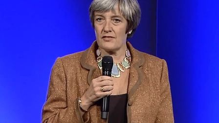 Julia Killick, governor of HMP Holloway, speaking at the 2014 prison ministry conference. Picture: H