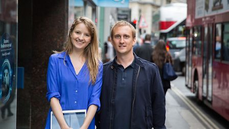 Qudini founders Imogen Wethered and Fraser Hardy