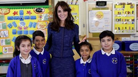 The Duchess of Cambridge, patron of charity Place2Be, spoke to pupils as she visited Salusbury Prima