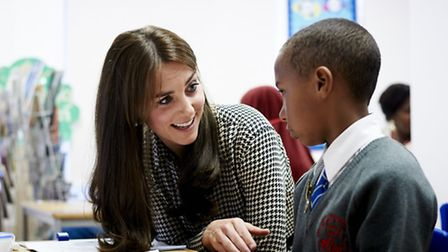 The Duchess of Cambridge during a visit to the Anna Freud Centre in Islington in September