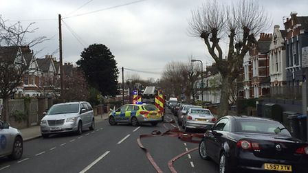 A property is on fire in Chevening Road (Pic: Francis Henry)