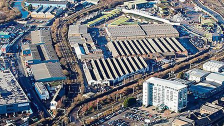 Areial view of the current Car Giant site