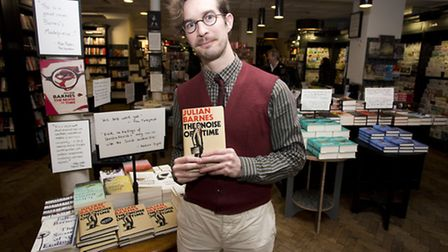 Shop manager Martin Koerner at the Waterstones at Islington Green