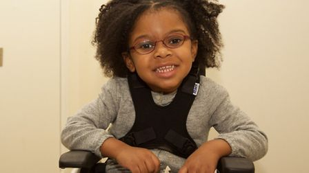 Bailey's cerebral palsy means she is unable to walk or play without a wheelchair or a walking frame