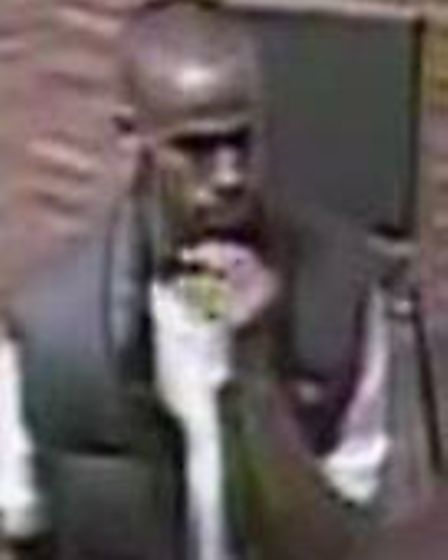 CCTV of man police would like to speak to in connection with the incident