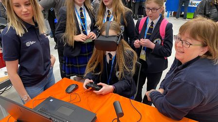 The STEMpower tech fair for Year 8 female students at East Coast College Lowestoft camous. Picture: