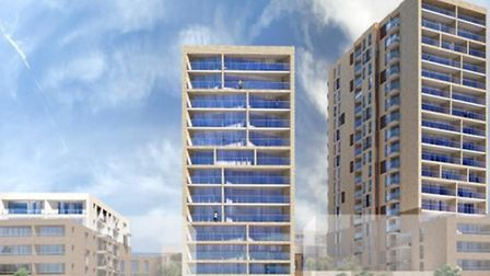 The development will include an 18 storey tower block