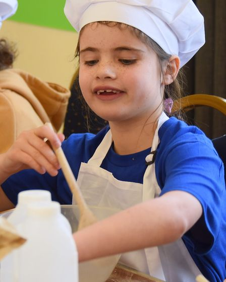 One of the children making bread at Southwold in the Bread 'N' Butter workshop. Picture: DENISE BRAD