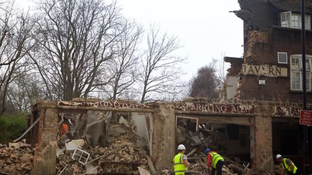 The pub was demolished without permission